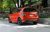 2021 Chevy Sonic Orange Color Rear Angle