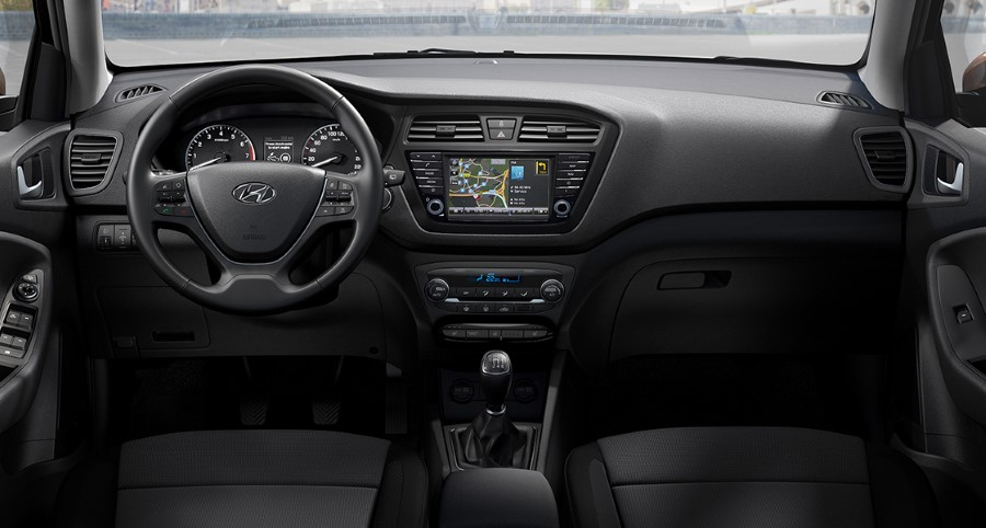 2021 Hyundai i20 Cockpit Interior Black Color