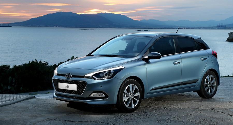 2021 Hyundai i20 Skyblue Color