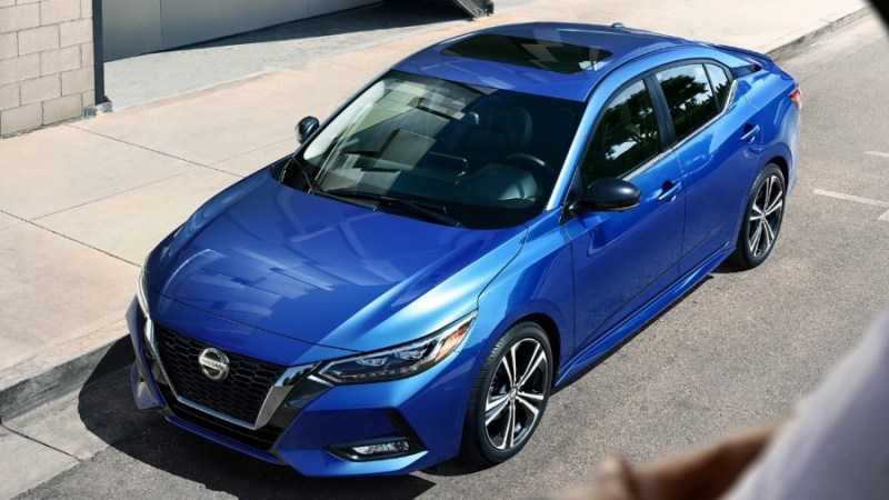 2021 Nissan Sentra Blue Color With Power Sliding Glass Moonroof