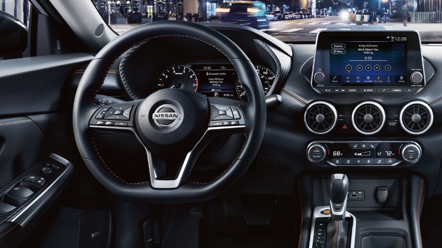2021 Nissan Sentra D-Dhape Steering Wheel With New LCD Screen