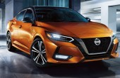 2021 Nissan Sentra Redesign Exterior Front end With New Thin Projector LED Headlights