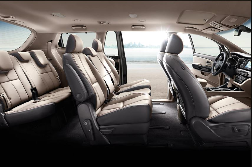 2021 Kia Sedona van Interior Layout