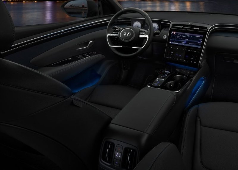 2022‌ ‌Hyundai‌ ‌Tucson N Interior With Blue Strip