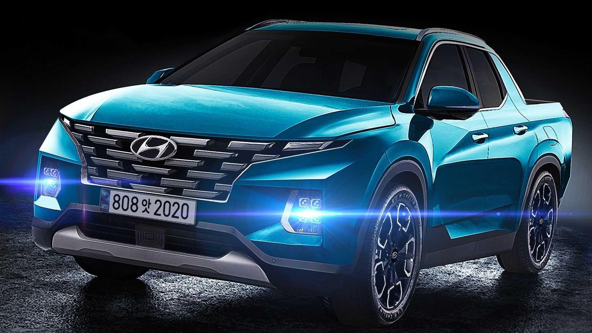 2022 Hyundai Santa Cruz Pickup Truck Rendering