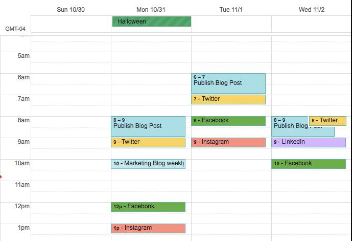 Календарь социальных сетей