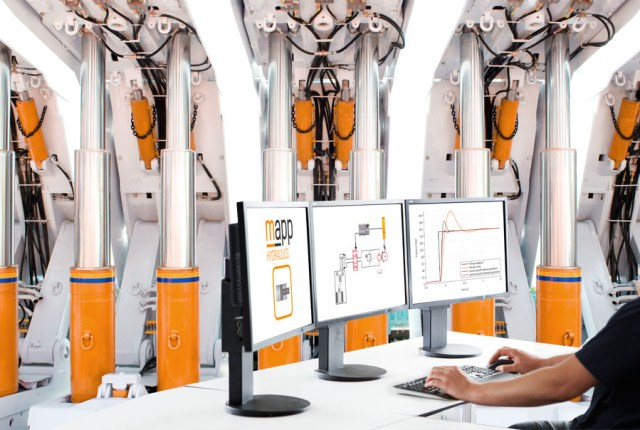 mapp Hydraulics 소프트웨어 컴포넌트는 고급 폐 루프 유압 기능에 대한 편리한 액세스를 제공한다.