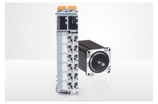 X20 시리즈의 새 스테퍼 모터 모듈은 센서리스 및 부하에 따른 전류 제어를 제공한다.