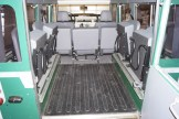 Defender rear jump seats and Heavy Duty rubber floor mat.