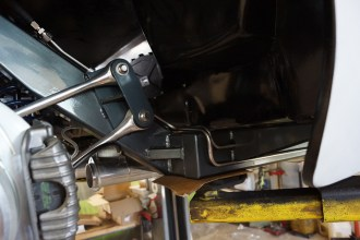 Custom bent stainless fuel lines were made and installed in-house.