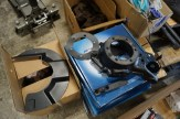 Painted front axle parts ready for reassembly.