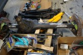 Rear axle with coil brackets removed, ready to install on leaf springs.