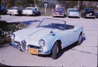 This is the photo we were given from 1958 when the owner bought his Giulietta from Hoffman Motors