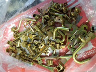 All original hardware re-plated in correct gold-cad