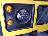 LED headlights and marker lights on the front.