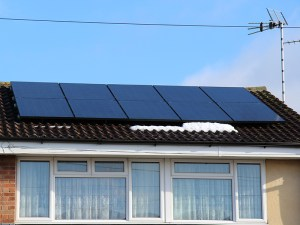 PV panels (a 4kW array) fitted in February (the snow being the clue)