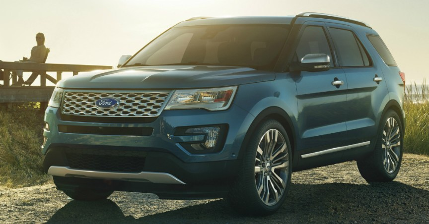 2016 Ford Explorer in the Sun
