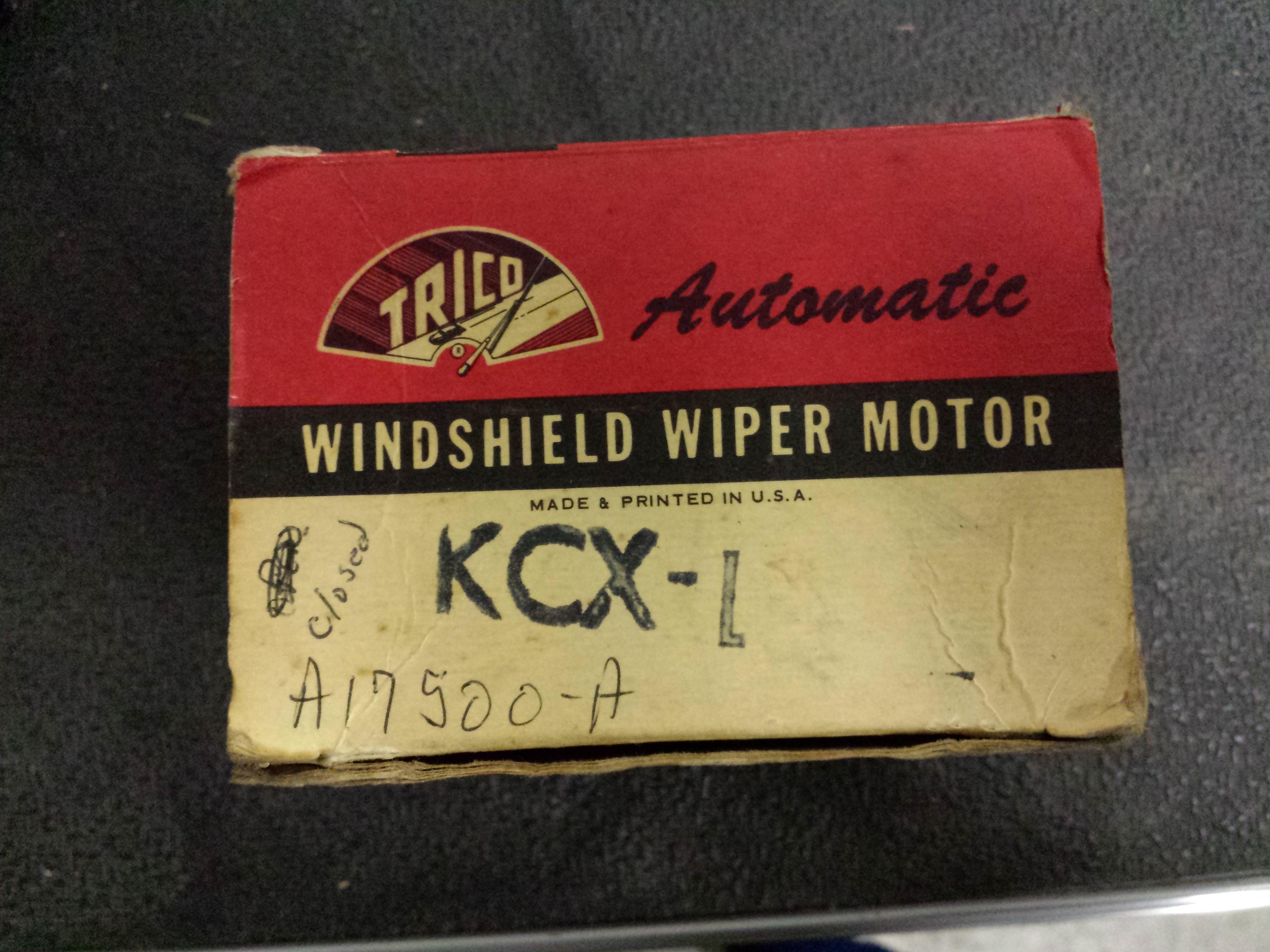 NOS KCX-1 Trico Wiper Motor