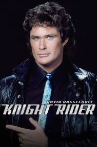 Pictured: David Hasselhoff as Michael Knight