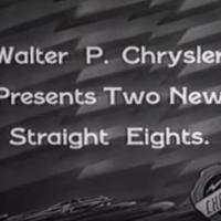 Chrysler Straight 8s in the 1930s - King Rose Archives @YouTube