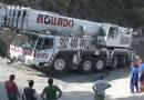 Large tonnage crane in distress