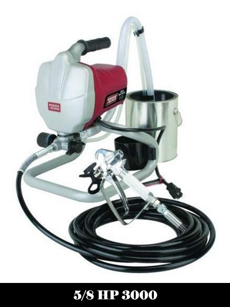 5-8 HP 3000 PSI Airless Paint Sprayer Kit Includes Stainless Steel Paint pick the lock and 25 ft spray hose -Top 10 Best Airless Paint Sprayers Reviews