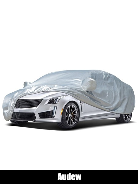 Audew Car Cover Sedan Cover 2019 Upgrade UV Protection Waterproof Windproof Dustproof Scratch Resistant Outdoor Full Car Covers for Sedan - Top 10 Car Cover Reviews