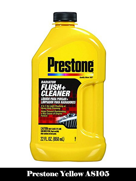Prestone Yellow AS105 Radiator Flush and Cleaner-22 oz, 22. Fluid_Ounces-Top 10 Best Engine Flushes for Cars Reviews