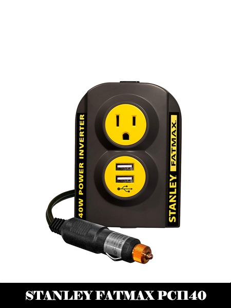 STANLEY FATMAX PCI140 140W Power Inverter 12V DC to 120V AC Power Outlet with Dual USB Ports-Top 10 best Power Inverter For Car