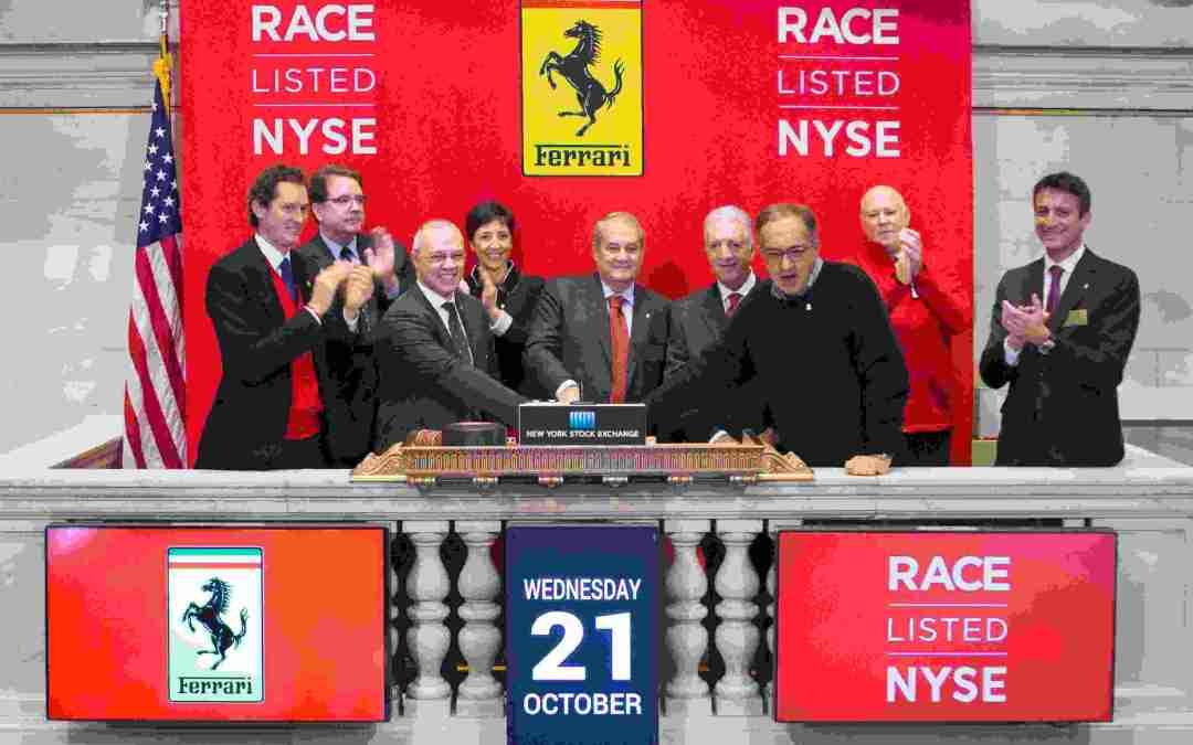 RACE ! Inizio per le contrattazioni del titolo FERRARI alla Borsa di New York