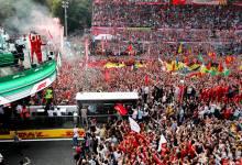 Photo of La mejores fotos de la fiesta de Charles Leclerc y Ferrari en Monza