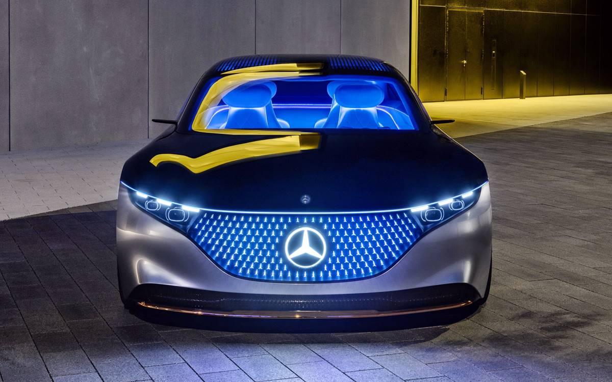 Mercedes-Benz VISION EQS: Un futuro luminoso