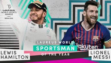 Photo of Hamilton compartió con Messi el Premio Laureus 2020