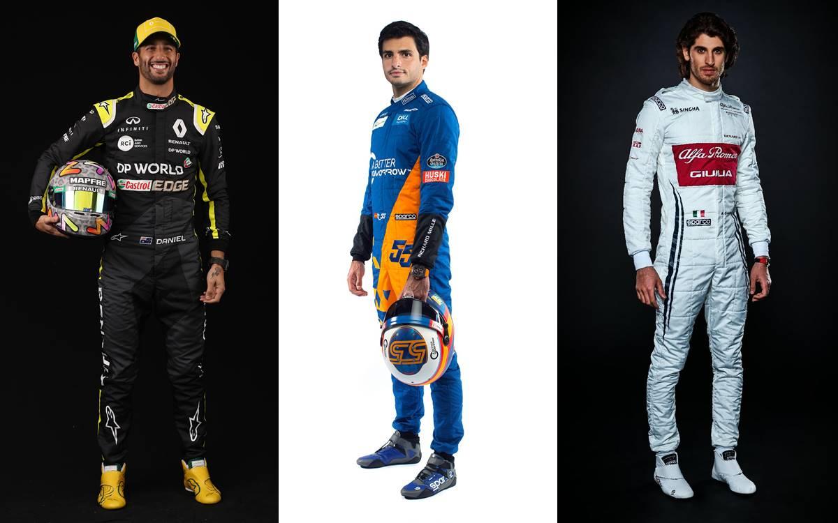 Daniel Ricciardo, Carlos Sainz y Antonio Giovanazzi. ¿Alguno será el reemplazante de Sebastian Vettel?