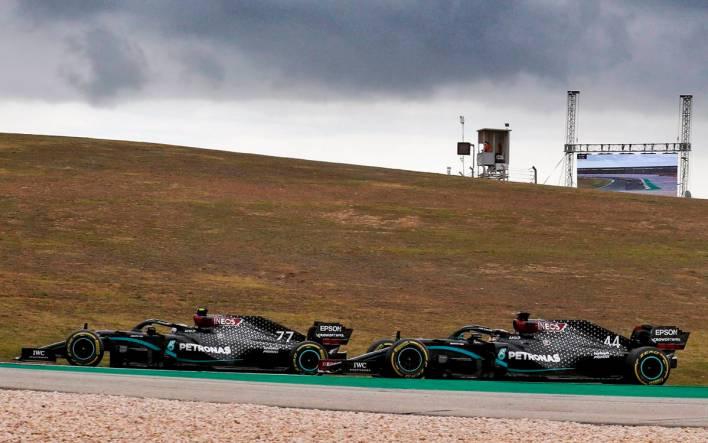 Lewis Hamilton y Valtteri Bottas