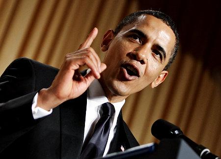 Obama at Saturday night's Correspondents Dinner