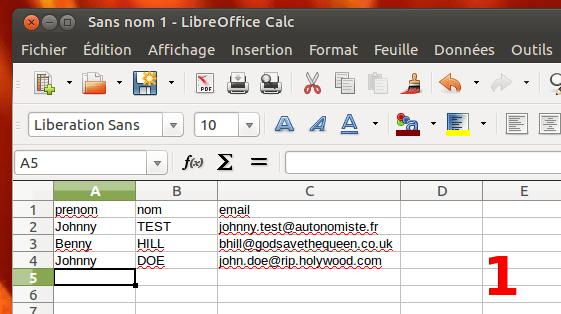 Comment envoyer un mail personnalisé à une liste de contacts