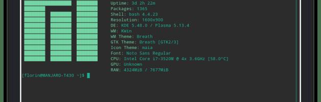 Afficher les informations système dans le terminal avec screenfetch
