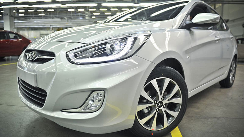 Hyundai Solaris до рестайлинга