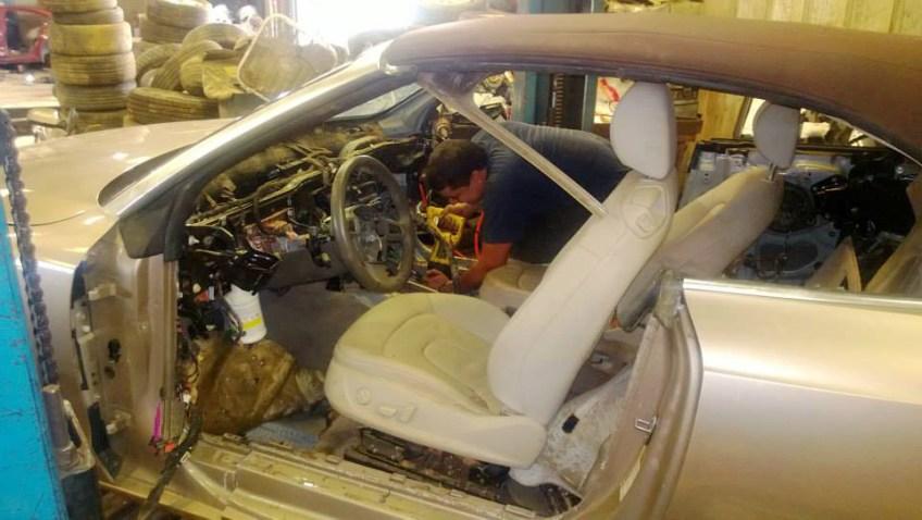Removing Audi interior