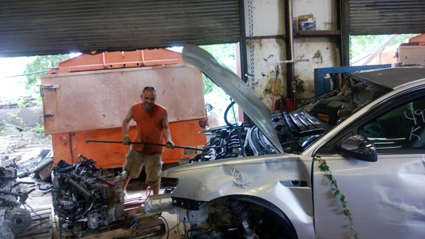 Dismantling another car