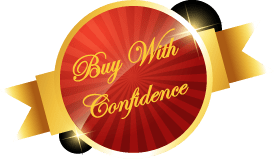 Buy With Confidence red and gold medallion