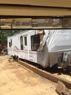 Scrapped camper