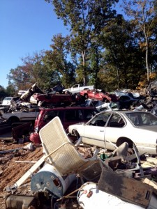 Scrap Metal, Scrap Metal, and More Scrap Metal at Auto Parts U Pull