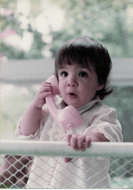 jessica on phone spring 1983