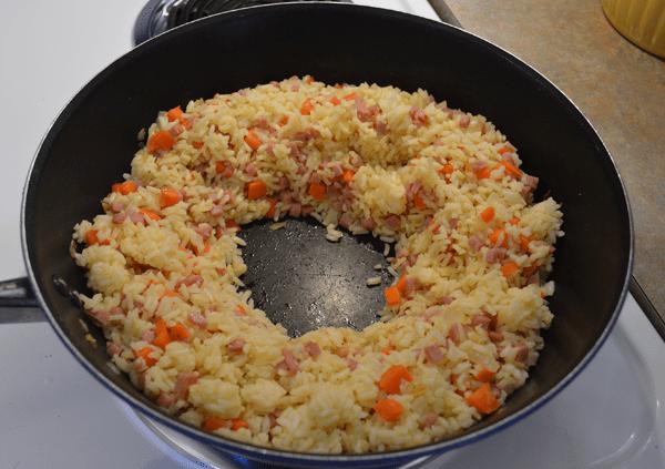 grannie geek, ham fried rice