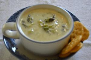 Grannie Geek, broccoli cheese soup