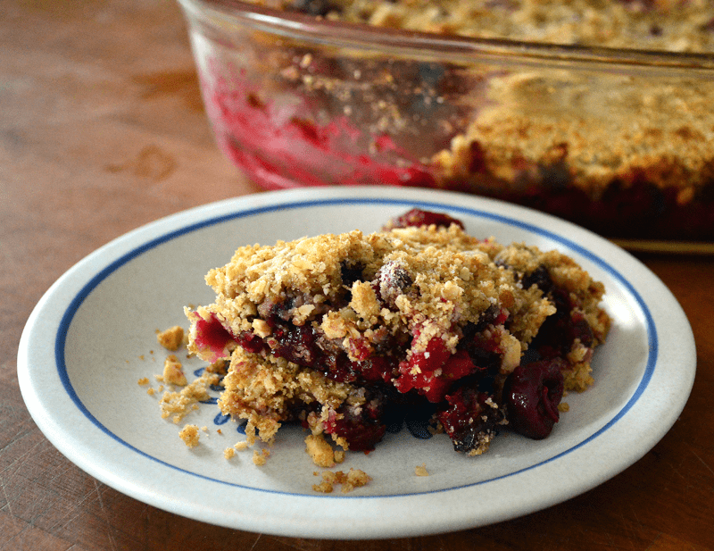 grannie geek, cherry cranberry crumble