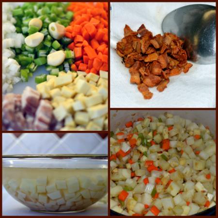 grannie geek chicken soup veggie collage