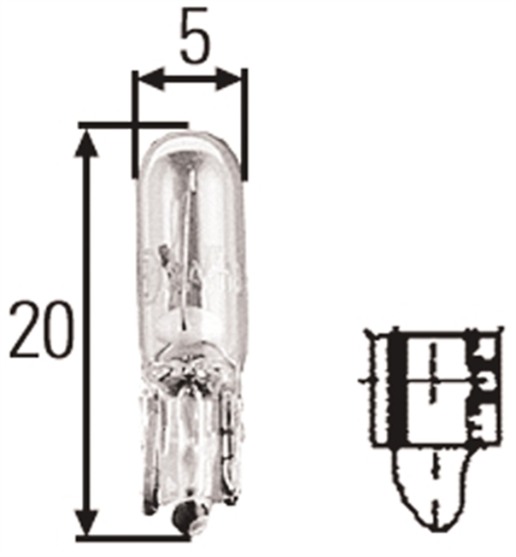Hella H T1 5 Incandescent Bulb